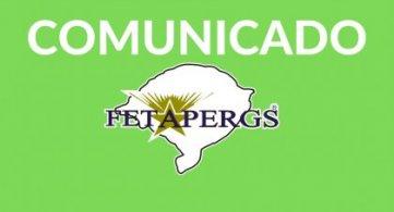 Comunicado: atividades presenciais suspensas na Federação