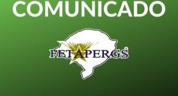 COMUNICADO: Funcionamento da FETAPERGS durante o feriado