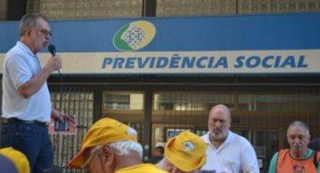 Coordenadoria Regional da FETAPERGS organiza ato em defesa da Previdência Social
